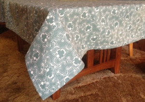 Jade or Teal Square Tablecloth 75x75